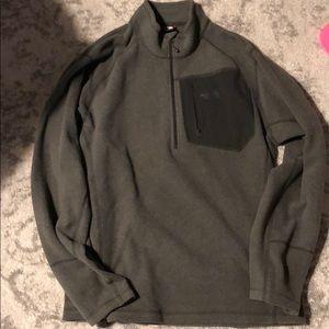 Mens the north face grey quarter zip fleece medium